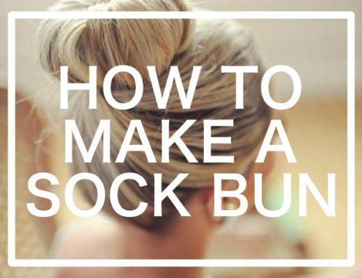 How-to-make-a-sock-Bun-Step-by-Step-Tutorials