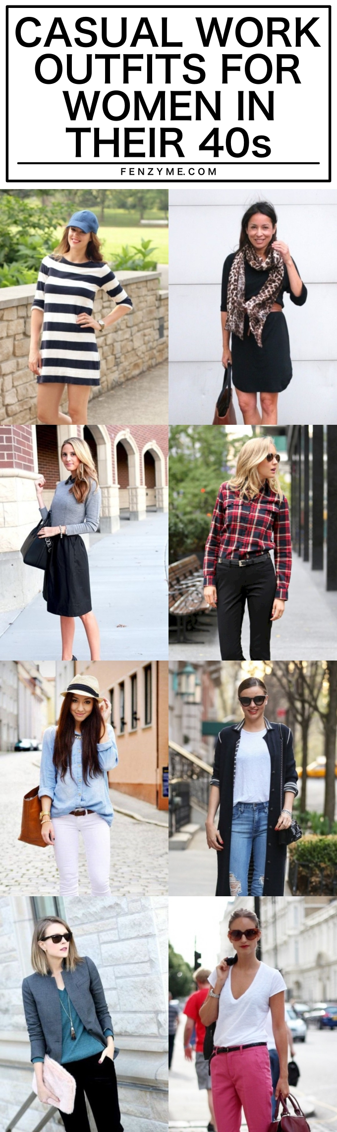 CASUAL WORK OUTFITS FOR WOMEN IN THEIR 40S