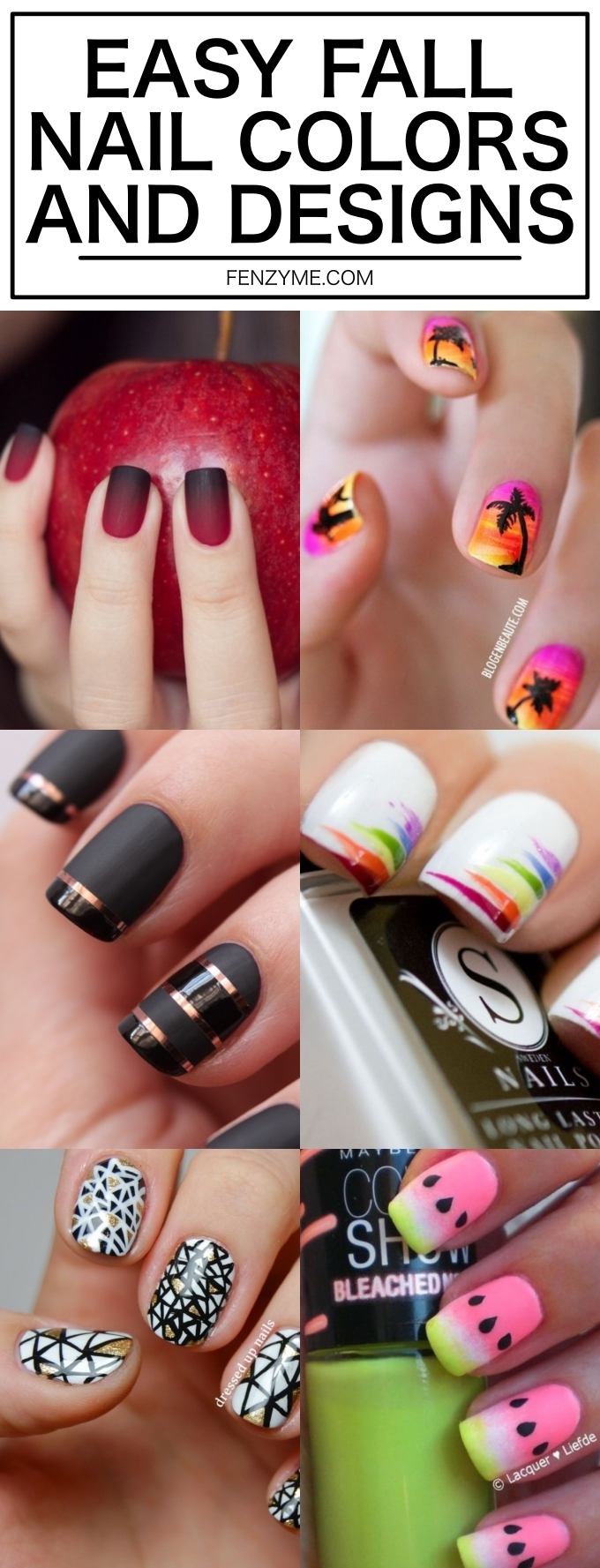 EASY FALL NAIL COLORS AND DESIGNS