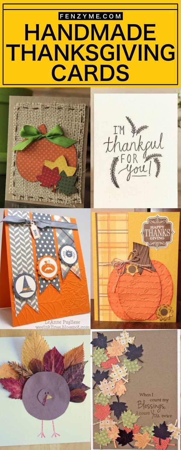 30 handmade thanksgiving cards to show gratitude handmade thanksgiving cards kristyandbryce Image collections