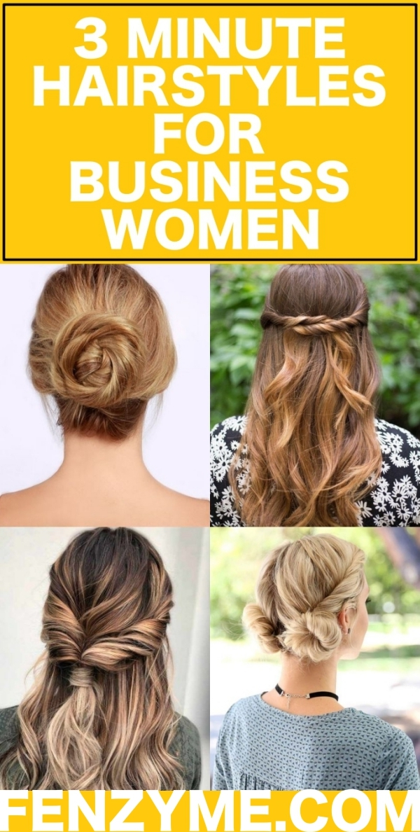 3 Minute Hairstyles for Business Women