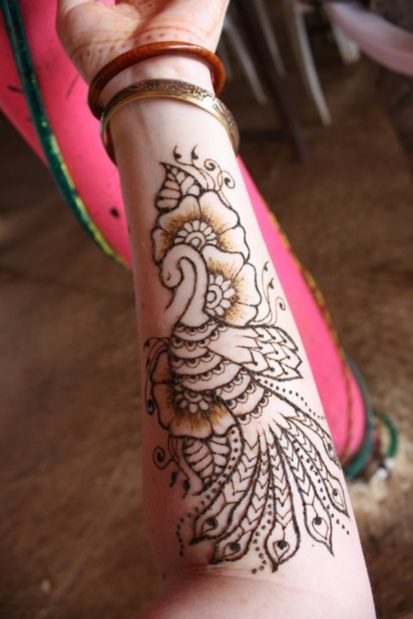 Peacock Design Henna Tattoo: 42 Beautiful Henna Tattoo Designs For Women To Try