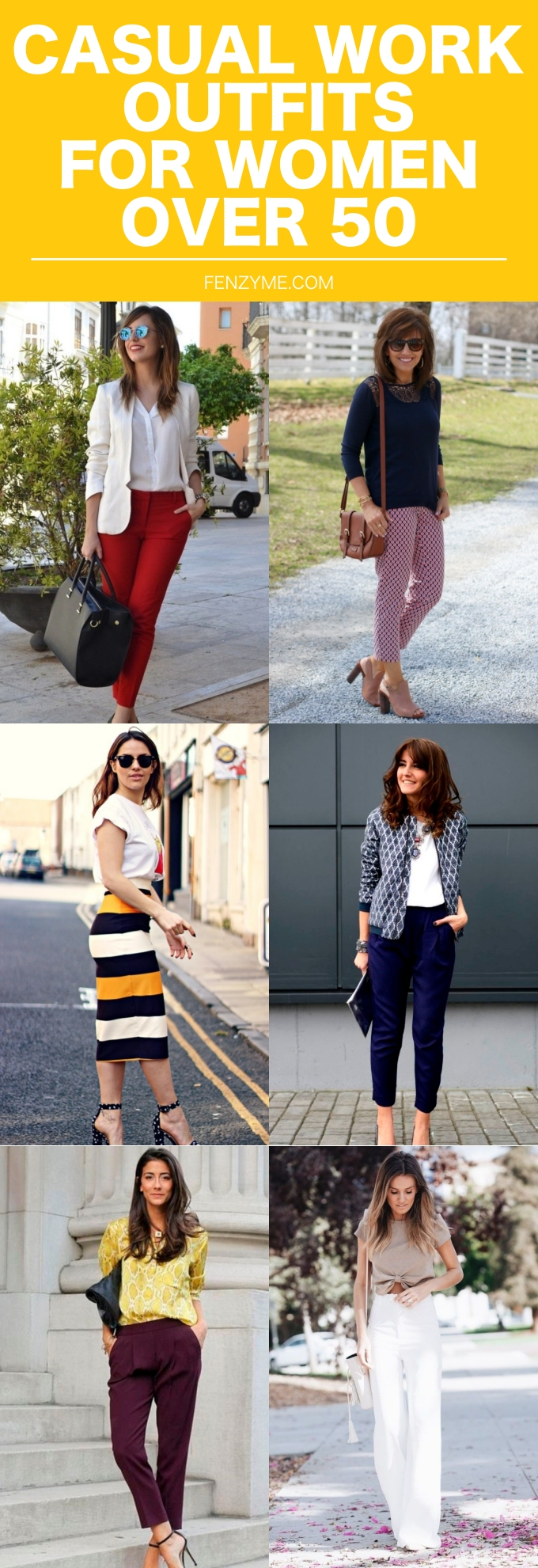 CASUAL WORK OUTFITS FOR WOMEN OVER 50