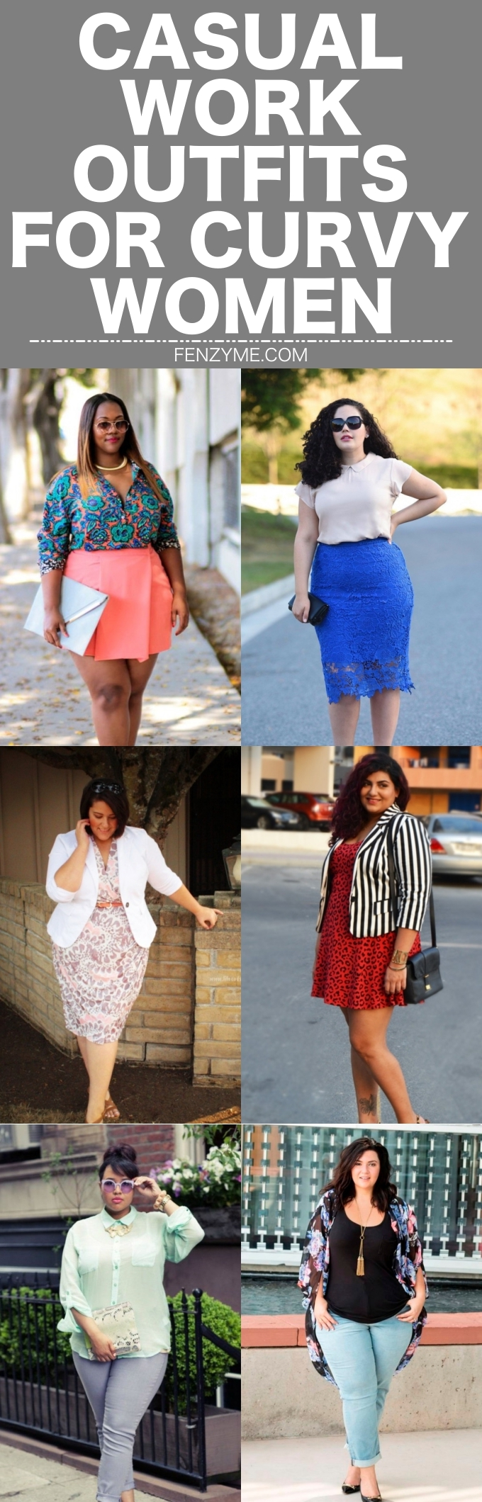 Casual Work Outfits for Curvy Women