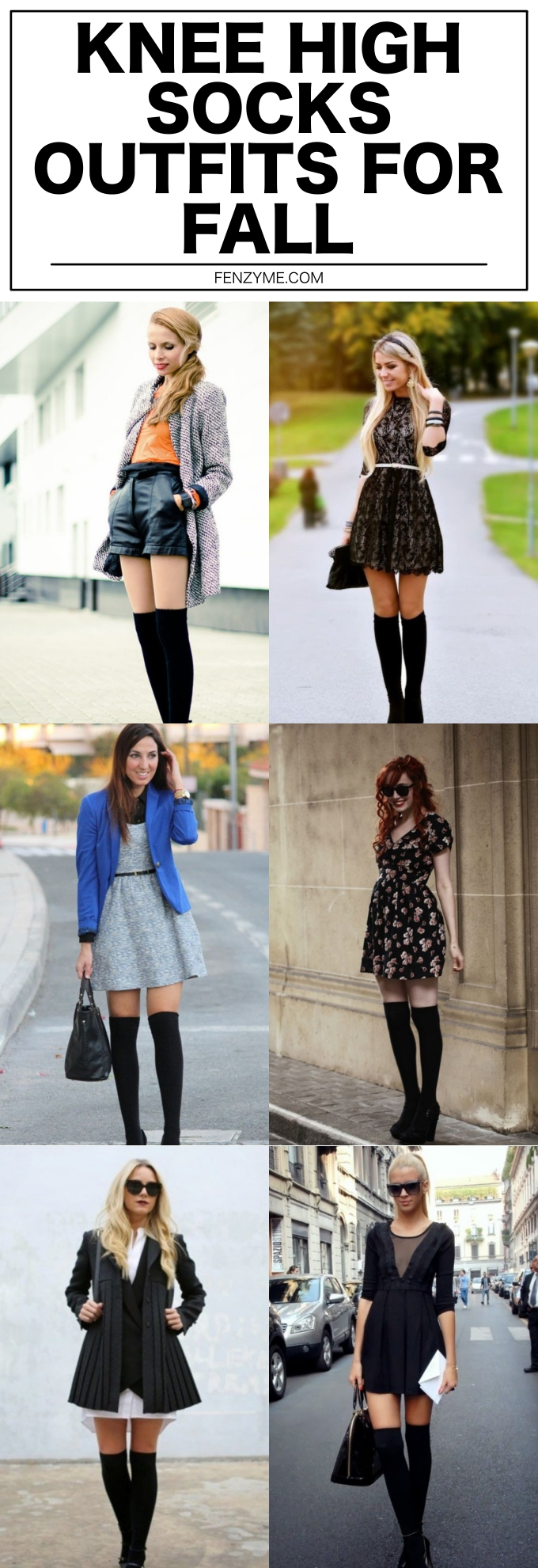 KNEE HIGH SOCKS OUTFITS