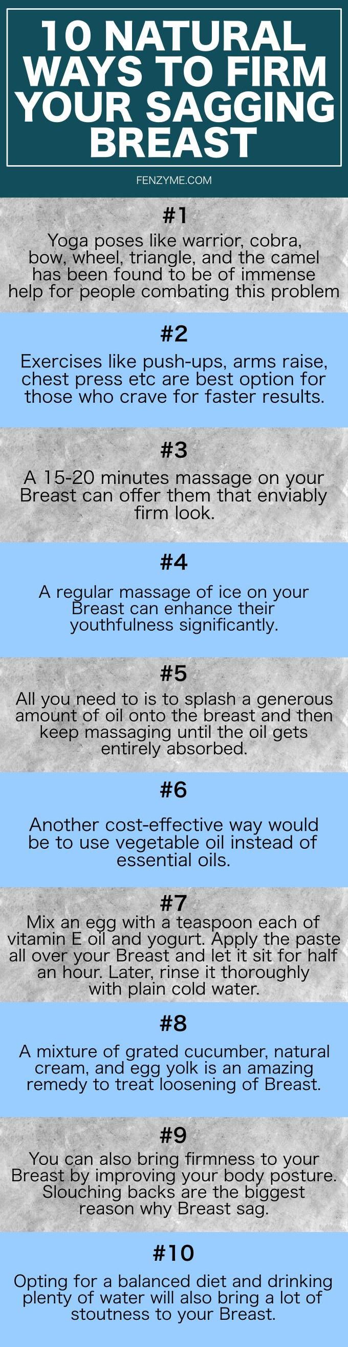 Natural ways to firm your sagging breast