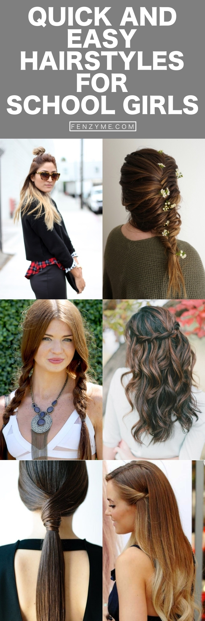 Quick and Easy Hairstyles for School Girls