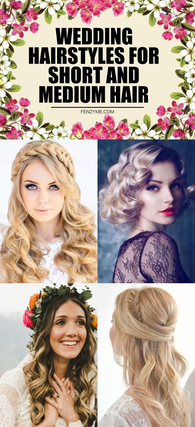 Wedding Hairstyles for Short and Medium Hair