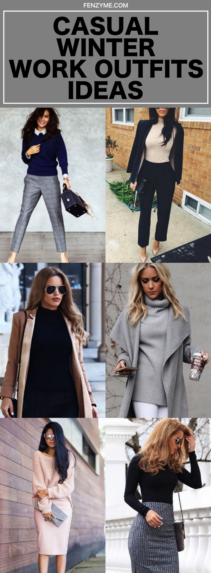Casual Winter Work Outfits ideas