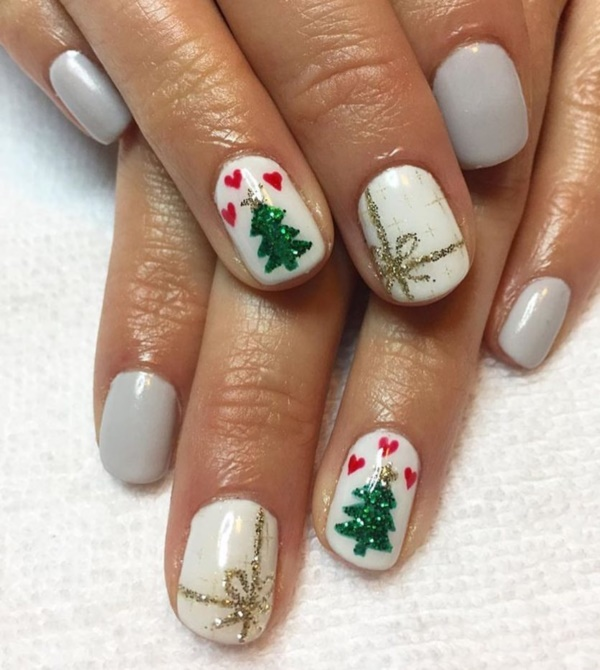 Christmas Nails Design Easy: 42 Easy Winter And Christmas Nails Designs 2017
