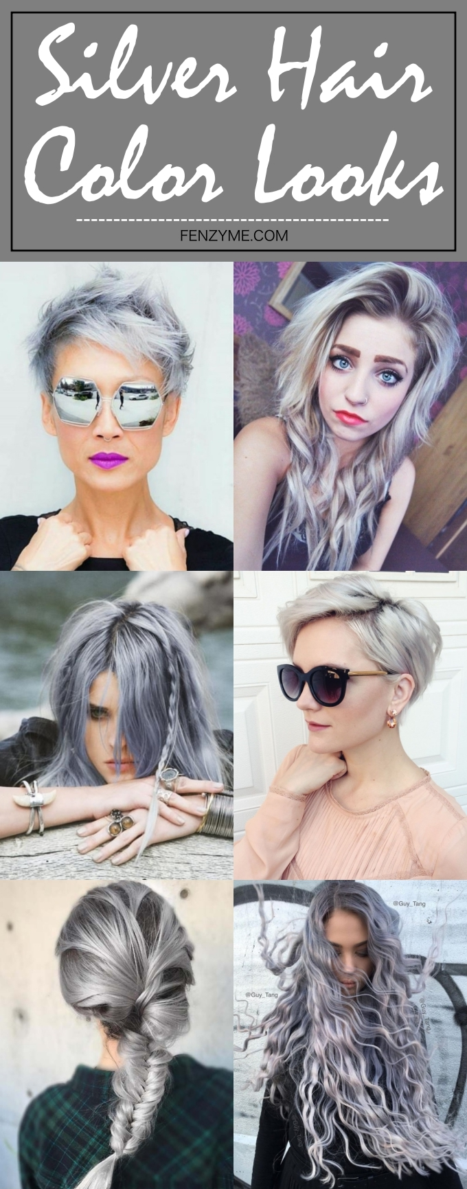 Silver Hair Color Looks