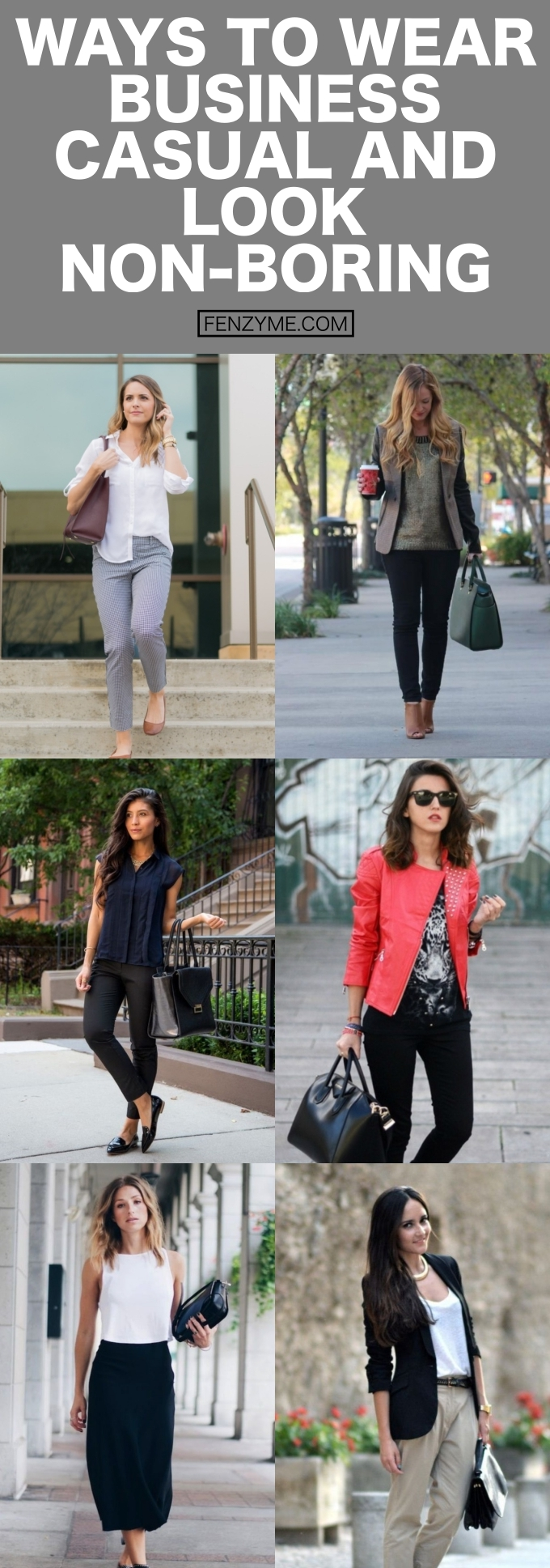 Ways to wear business casual and look non boring