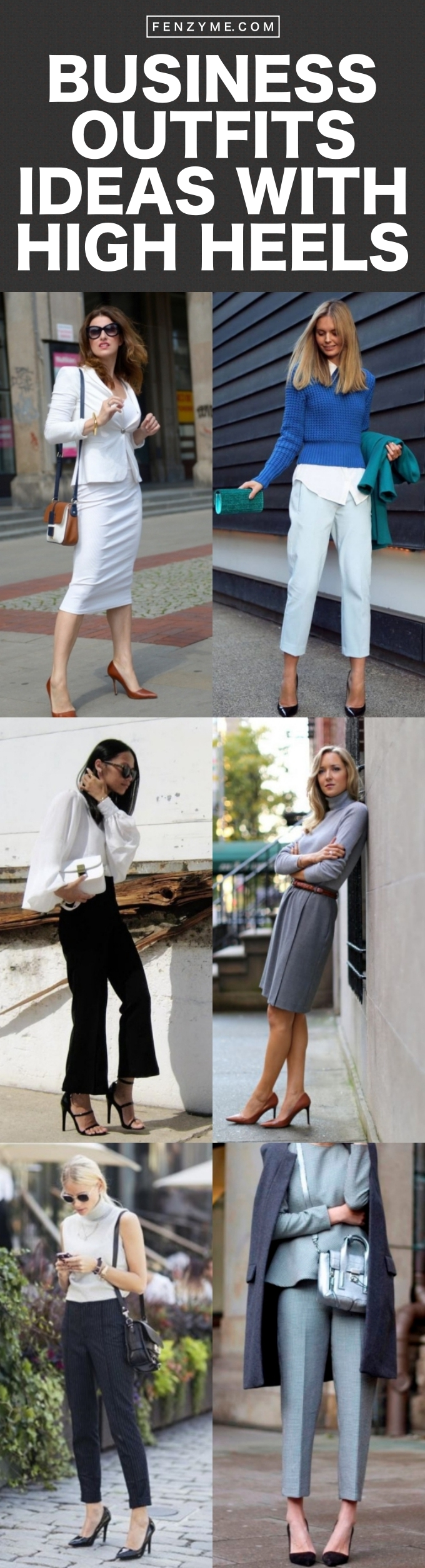 Business Outfits Ideas with High Heels