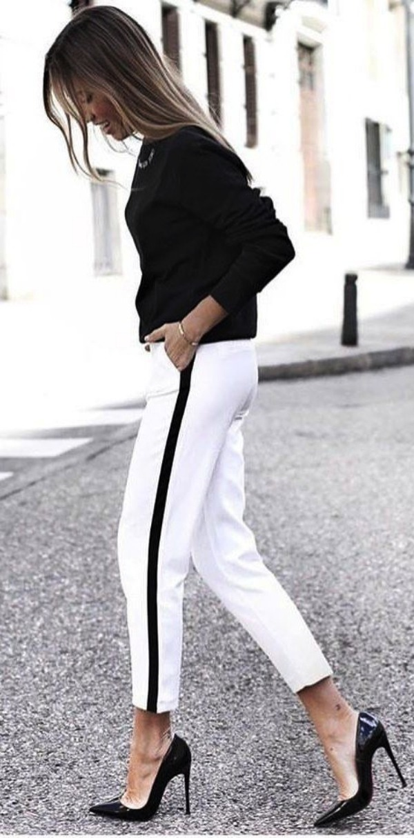 Casual White Pant Work Outfits
