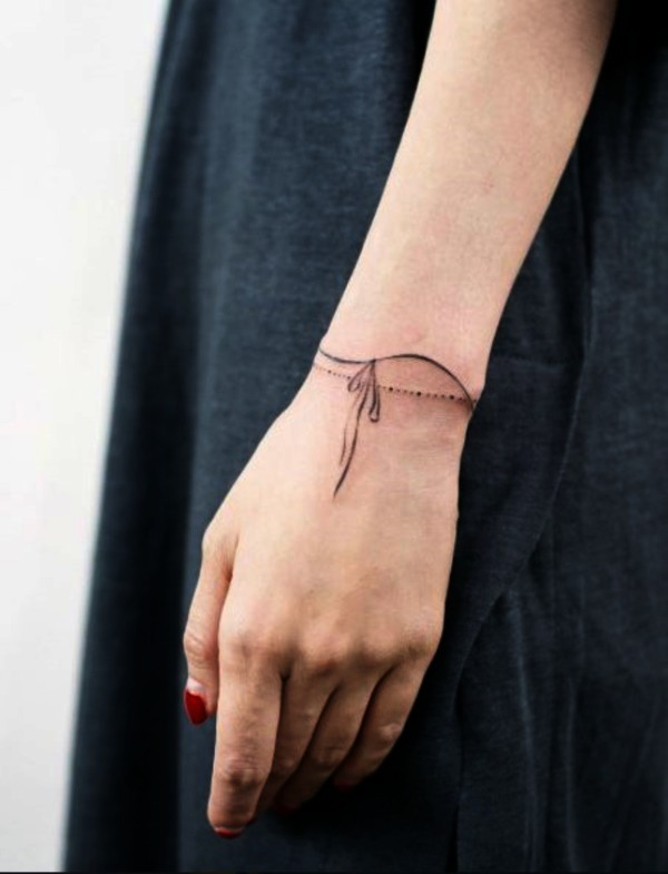 Unique Wrist Bracelet and Band Tattoos
