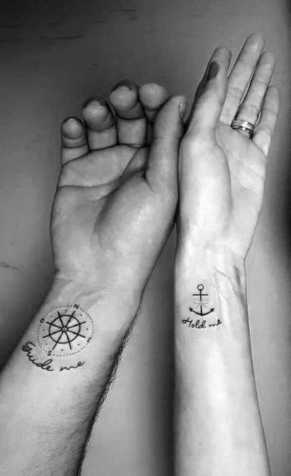 His and Hers Matching Tattoos For Couples