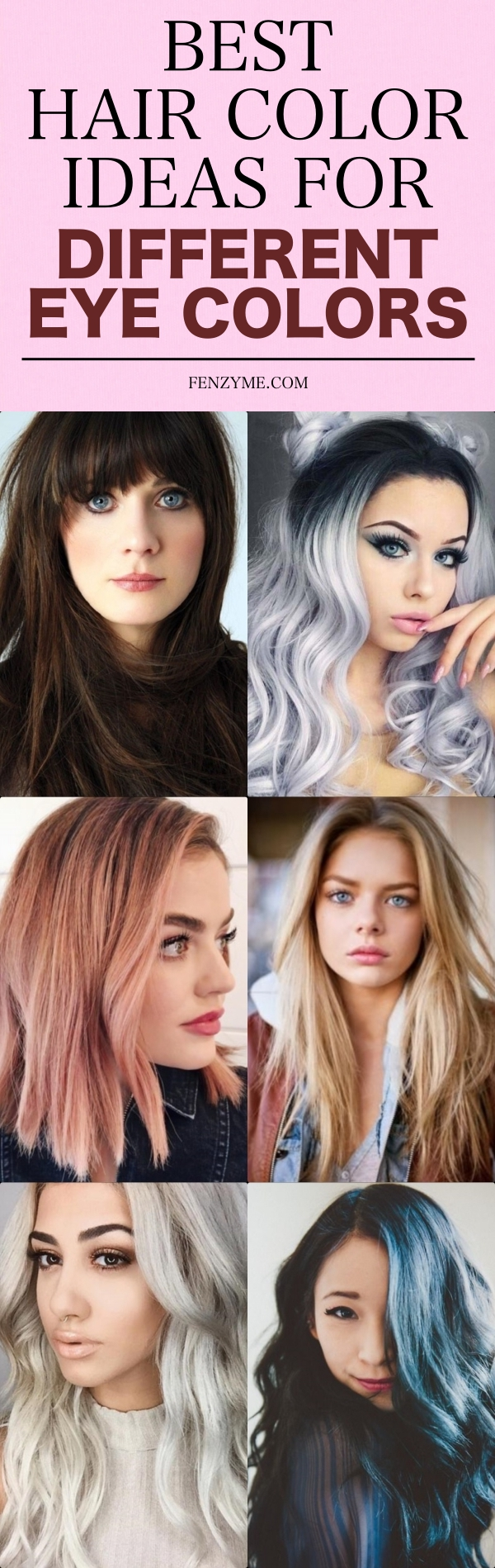 Best Hair Color Ideas for Different Eye Colors