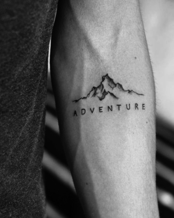 Adventure: Small Tattoo Designs for Men with Deep Meanings