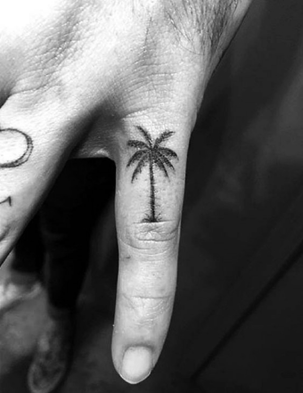 Pine Trees Beach Tattoo: Small Tattoo Designs for Men with Deep Meanings