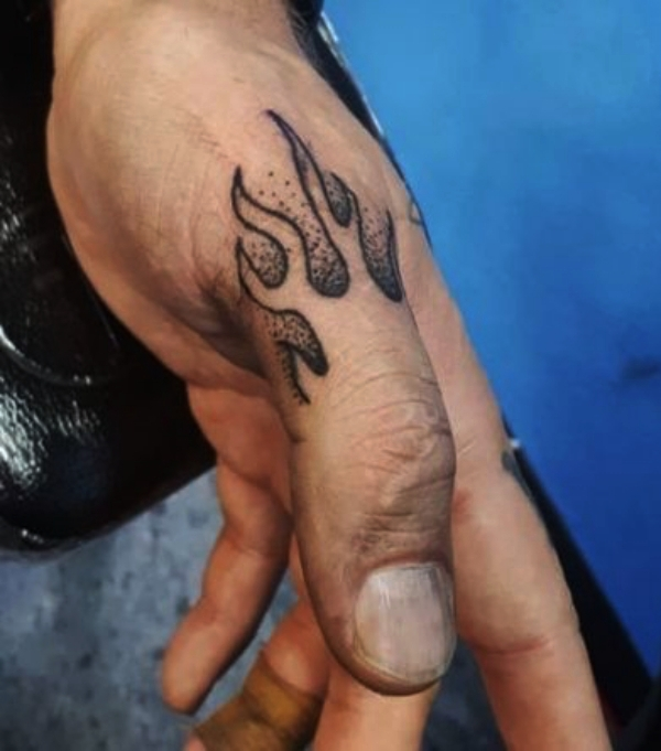 Flame Tattoo: Small Tattoo Designs for Men with Deep Meanings