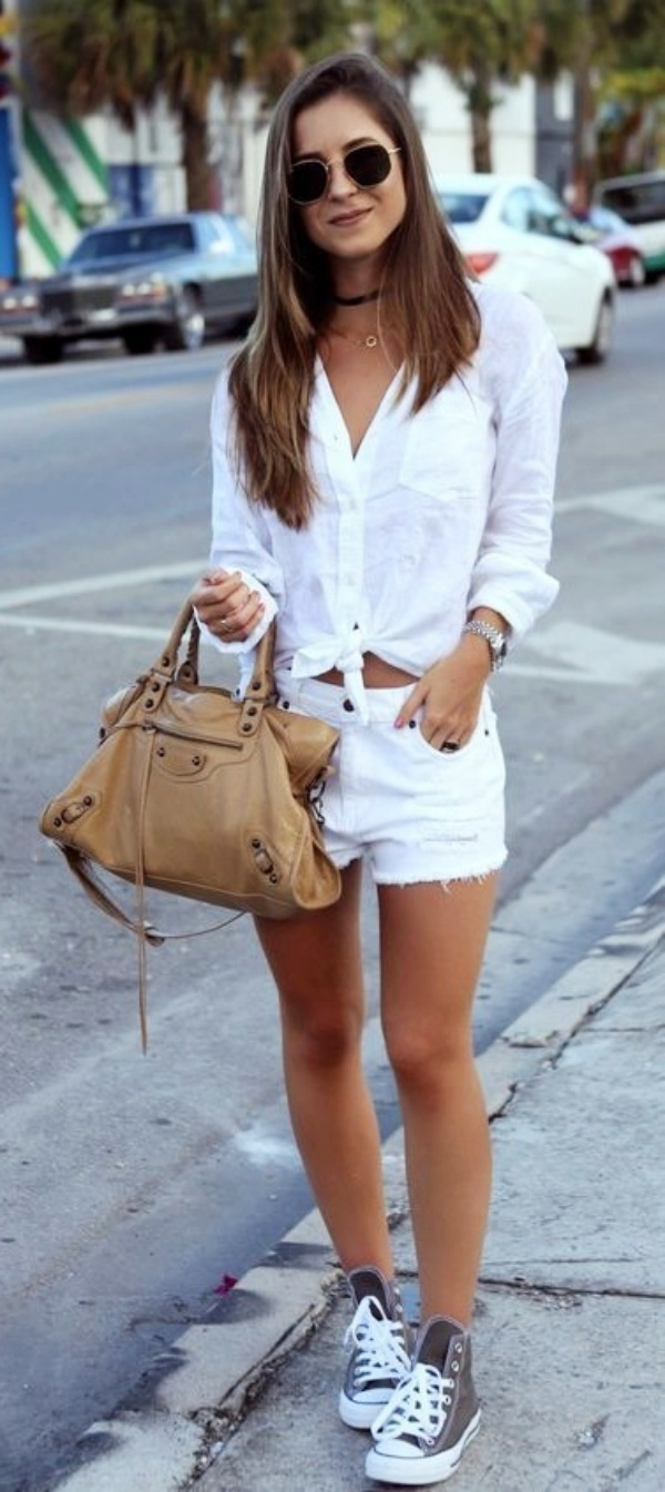 Casual summer outfits with sneakers6