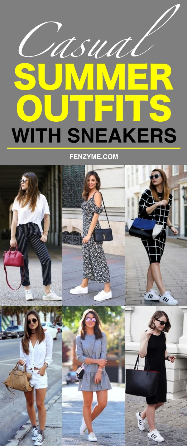 Casual Summer Outfits with Sneakers